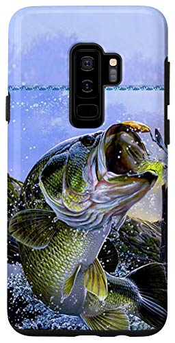 Galaxy S9+ Largemouth Bass Fishing for men Cool Fish Hunting Gift Case