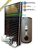 Kit Sistema Solar Térmico de alto rendimiento para producción Agua Caliente Sanitaria, 2–4personas, Tetera 300L, fkf240