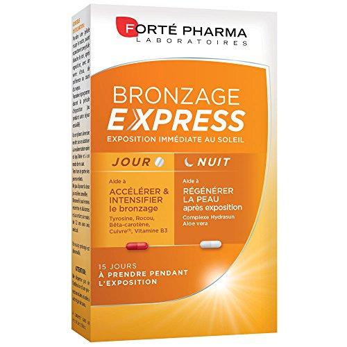 petit un compact Forté Pharma Bronzage Express |  Compléments alimentaires pour améliorer les coups de soleil à l'intérieur…