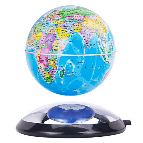 6 Pulgadas Bola Mundo Decoracion Cielo Azul Globo Mundo Flotante para Regalo de Niños, Decoración de Escritorio para El Hogar/Oficina, Regalo de Cumpleaños