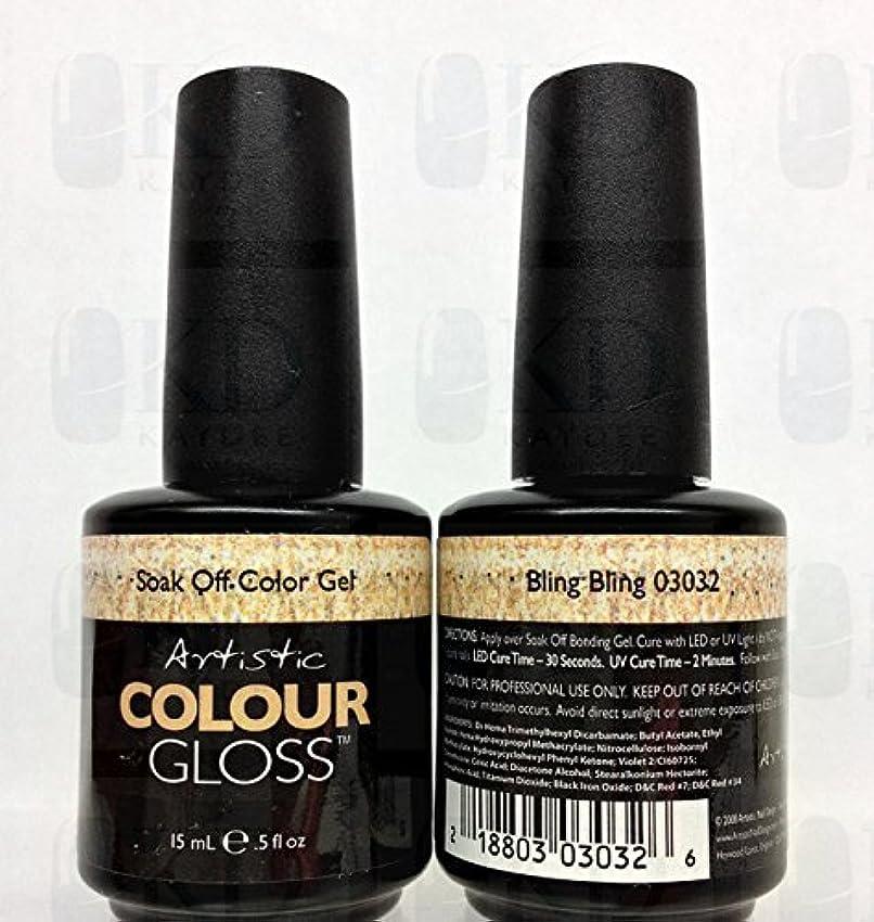 重要綺麗な困ったArtistic Colour Gloss - Bling-Bling - 0.5oz/15ml