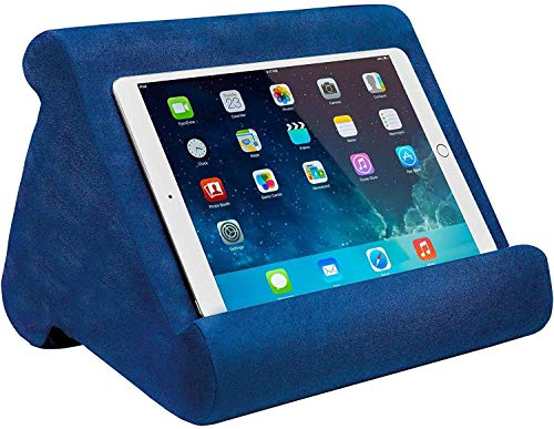 zhuolang Multi-Angle Soft Pillow Lap Stand for iPads, Tablets, eReaders, Smartphones, Books, Magazines (Blue)