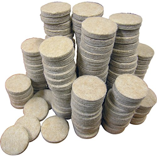 Shepherd Hardware 9852 1-Inch Adhesive Felt Furniture Pads, 160-Count by Shepherd Hardware
