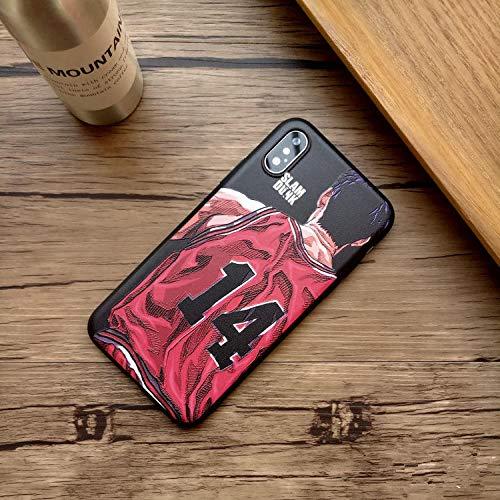 VXVN Comic Slam Dunk Sakuragi Cubierta del teléfono para el Alivio Soft Silicone Coque Funda-Foto colora_Manzana 12promax