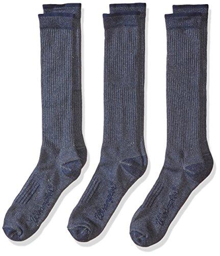 Wrangler Men's Lightweight Ultra-Dri Boot Socks 3 Pair Pack, Navy, Sock Size:10-13/Shoe Size: 9-13