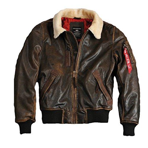 Alpha Industries Herren Injector III Leather (L, Vintage Brown)