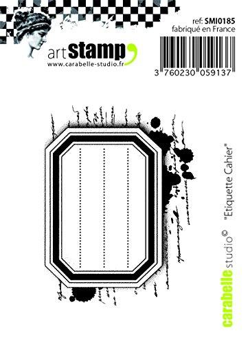Carabelle Studio Notebook Label Timbro di Gomma, Bianco Trasparente, 5x6x1 cm