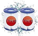 filtro de piscina tipo 2,Cartucho de filtro de piscina tipo II,Cartuchos de filtro de repuesto para bomba de filtro Bestway 58094,filtro piscina para bestway tipo 2, accesorio para piscina (2 Pcs)