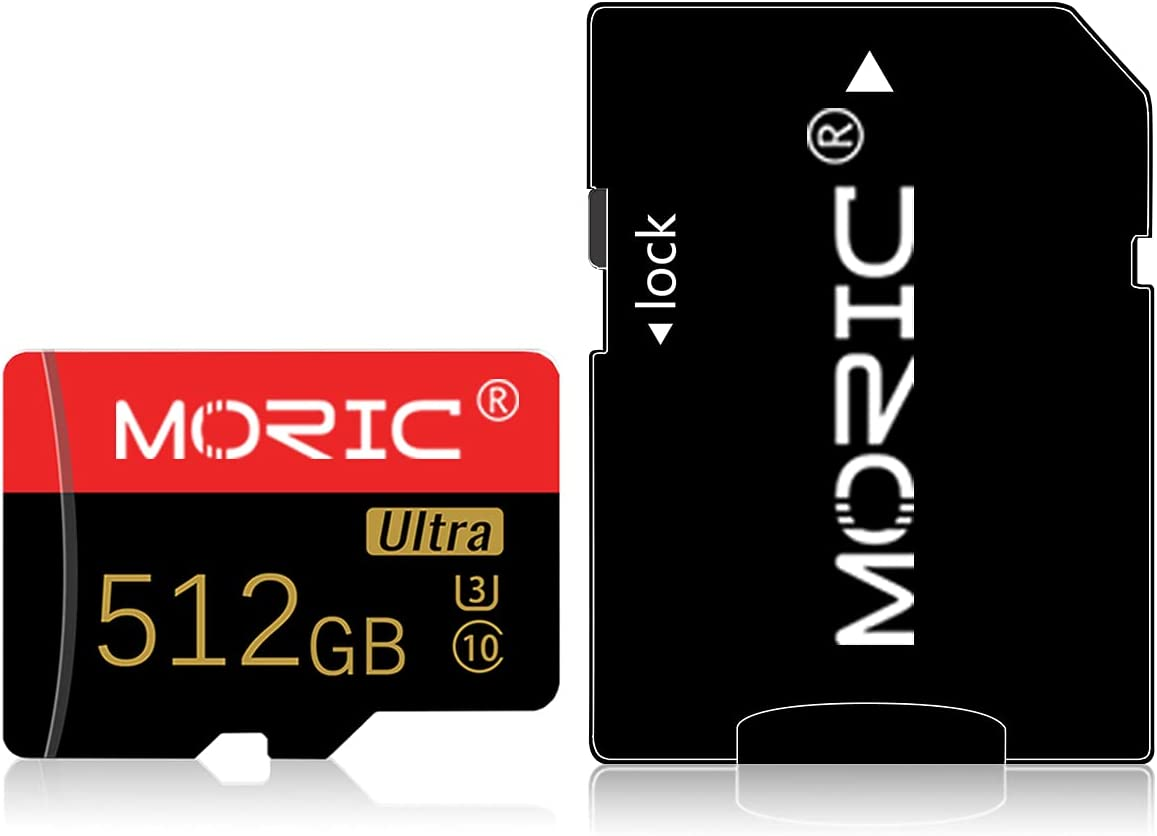 512GB Micro SD Memory Card Micro SD Card 512GB High Speed Class 10 with SD Card Adapter
