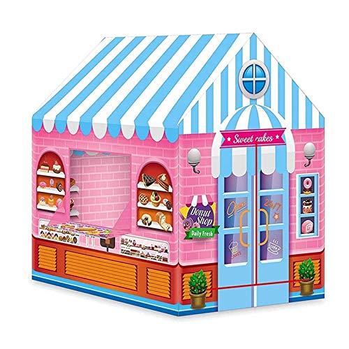 YBWEN Tiendas de campaña Niños Play House Tienda Niño Bebé Interior Playhouse Kids Toys Tienda para niña Los niños juegan a la Tienda de campaña (Color : Pink, Size : One Size)