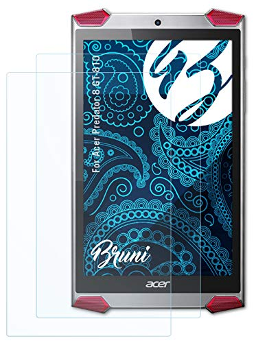 Bruni Schutzfolie kompatibel mit Acer Predator 8 GT-810 Folie, glasklare Bildschirmschutzfolie (2X)