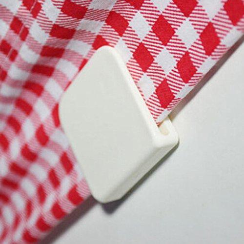 Alician 2 stuks zelfklevende fixatie douchegordijn klemmen U vorm vaste Clip Huishoudelijke Badkamer Home Decor
