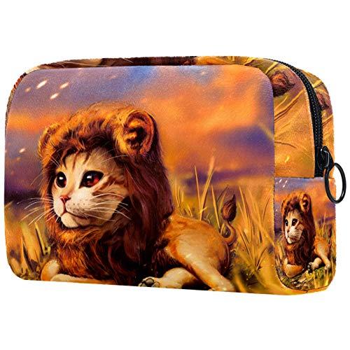 KAMEARI Bolsa de cosméticos León Bebé grande Bolsa de cosméticos Organizador Multifuncional Bolsas de Viaje