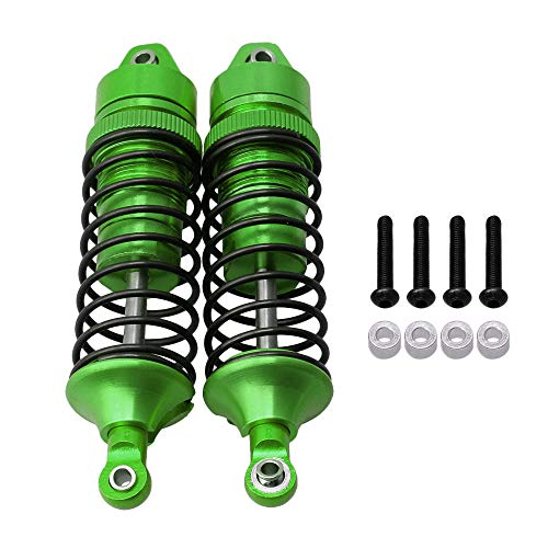 BQLZR Green SLA034 Aluminum Alloy Front Shock Absorber Upgrade Sets for TRAXXAS Slash 4X4 RC1:10 Rally Car Pack of 2