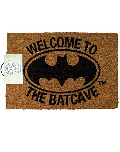 DC Comics Alfombrilla para puerta de Batman Welcome to The Batcuave, tamaño único