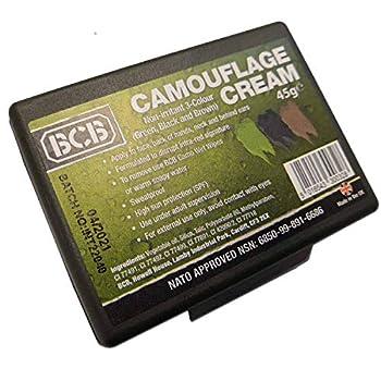 BCB International Maquillage / crème de camouflage, 3couleurs: noir, olive et marron, approuvé par l?OTAN, camouflage caméléon, pour survie militaire armée