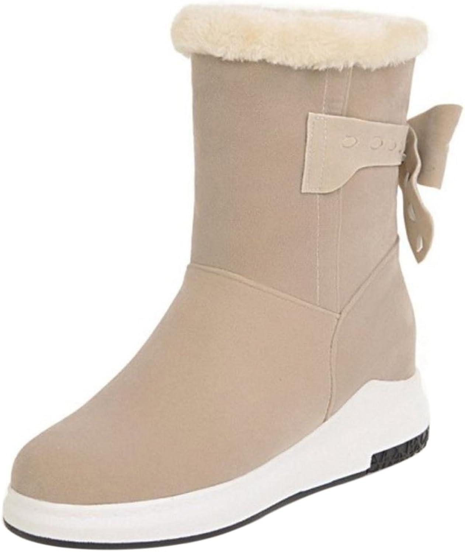CarziCuzin Women Boots Pull On Low Hidden Heel