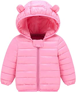 Pink, 6-12m DDSBABY Baby Girls Thermal Gilets Kids Cute Dinosaur Sleeveless Hooded Thick Gilet Vest Coats Outwear Clothing for Autumn Winter
