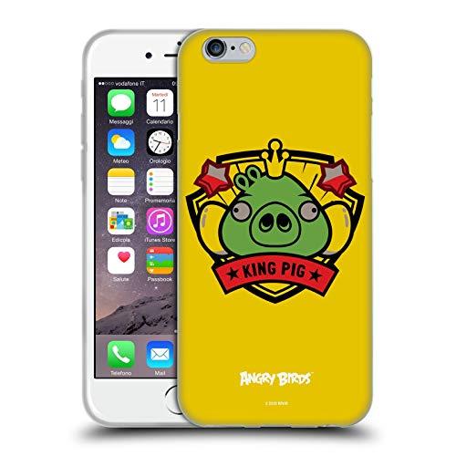 Head Hülle Designs Offiziell Zugelassen Angry Birds King Pig Darsteller Badge Soft Gel Handyhülle Hülle Huelle kompatibel mit Apple iPhone 6 / iPhone 6s