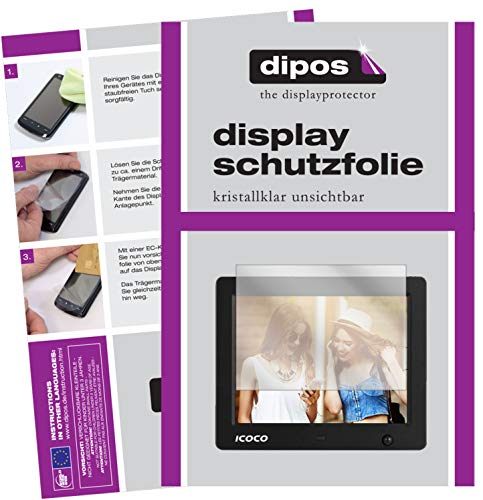 dipos I 6X Schutzfolie klar kompatibel mit Icoco 8 Zoll Digitaler Bilderrahmen Folie Displayschutzfolie