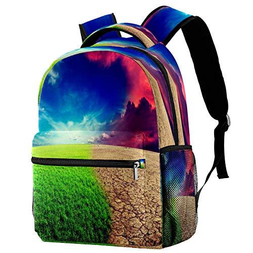 Ver Verano Mochila Escolar Mochila Libro Bolsa Casual Daypack para Viajes, estampado 7 (Multicolor) - bbackpacks004