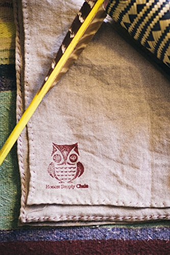 Handkerchief, organic linen, natural, dye free, handmade in our artist studio