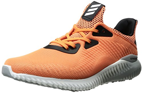adidas Women's Alphabounce 1 Running Shoe, Easy Orange/White/Light Onix, 10 M US