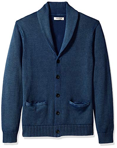 Amazon Brand - Goodthreads Men's Soft Cotton Shawl Cardigan, Washed Blue, X-Large