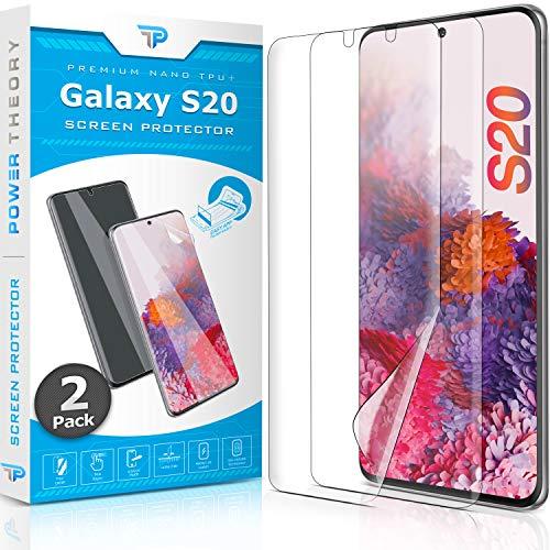 Power Theory Schutzfolie für Samsung Galaxy S20 [2 Stück] - [KEIN Glas] 3D Nano-Tech Panzerglasfolie, Panzerglas Folie, 100prozent Fingerabdrucksensor, Einfache Installation, Bildschirmschutz Panzerfolie