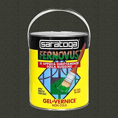 Vernice Gel Antiruggine Fernovus 2,5Lt, Nero Antico Micaceo, Saratoga