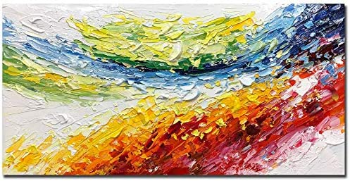 V inspire Art 24x48 Inch Abstract Hand Painted 3D Textured Oil Paintings Acrylic Painted Canvas product image