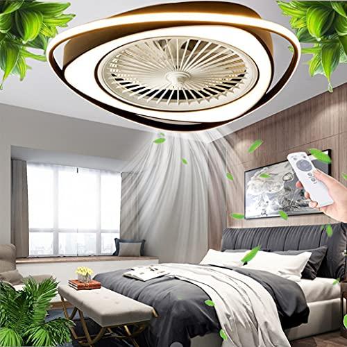 Luz de techo Ventilador de techo LED iluminación Control remoto moderno regulable con velocidad de viento silenciosa Lámpara 38W Dormitorio Sala estar Comedor Habitación para niños Candelabro