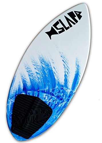 Slapfish Skimboards - Fiberglass & Carbon - Riders up to 200 lbs - 48' with Traction Deck Grip - Kids & Adults - 4 Colors