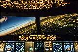 Poster 90 x 60 cm: Airbus A320 Landung in Moskau, Russland