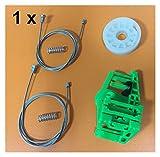 Pingping ZZPING Kit de Ventanas Ajuste para BMW 1 Serie E87 Regulador de Ventana Kit de reparación Trasera Izquierda 2003-2013