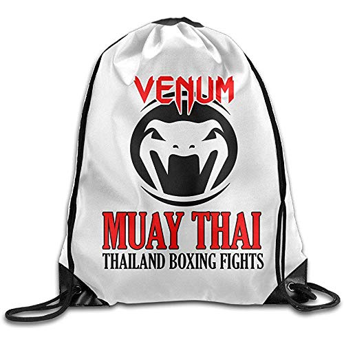 Niet geschikt casual cinch pack Venum Muay Thai logo sporttas reizen sport trekkoord rugzak