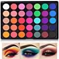 Eyeshadow Palette, 2020 35 Bright Colors Matte Sweatproof Matte and Shimmer Eyeshadow Make up Palettes Christmas Palette Blendable Pressed Powder Eye Shadow