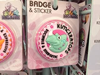 Kim–Dinosaurus personnalisé Nom badge