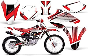 AMR Racing MX Dirt Bike Graphics kit Sticker Decal Compatible with Honda XR80 XR100 2001-2003 - Empire Red