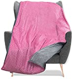Quility Weighted Blanket for Kids and Toddlers with Soft Cover - 12 lbs Twin Size, Heavy, Machine Washable, Heating & Cooling - (48' X 72') (Pink)