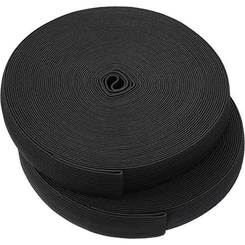 eBoot Black Elastic Spool (0.75 Inch x 22 Yard)