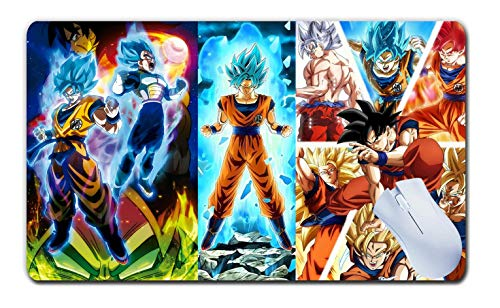 Dragon Ball Z Mouse Pad Rectangle Non-Slip Rubber Desktop Computer Game Mouse Mat Playmat Gamemat