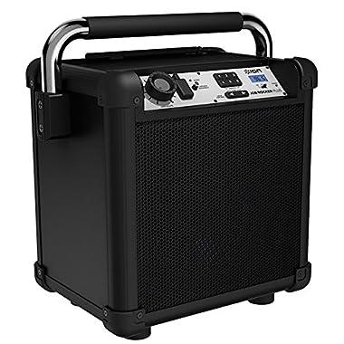 Ion Audio Job Rocker Plus (black) ION Audio Job Rocker Plus | Portable Heavy-Duty Jobsite Bluetooth Speaker System with AM/FM Radio + Mic Input (Black)