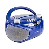 Reflexion CD-Player mit Kassette, USB, SD, UKW-Radio, AUX-Eingang, Netz- und Batteriebetrieb, blau -
