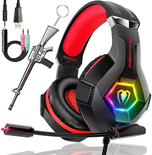 SVYHUOK PS4 Gaming Headset with Mic, Stereo 2019 Latest Lightweight Over-Ear Headphone for Games, Stereo Surround with Noise Cancelling 3.5mm Jack for PC Laptop