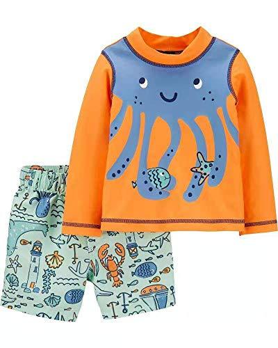 Carter's Baby Boys Rashguard Swim Set (Octopus, 24m)