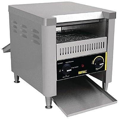 Buffalo GF269 Stainless Steel Double Slice Conveyor Toaster, 410mm X 370mm X 750mm