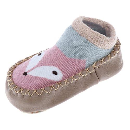 Generic Nette Baby Anti Rutsch Socken Junge Mädchen Baumwolle Neugeborene Kleinkind Socken - Rosa Fuchs, 14