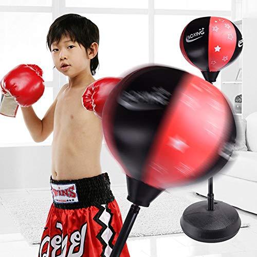 Knowled Kinder Boxsack Boxset Mit Ständer Kinder Boxhandschuhe Inklusive Höhenverstellbar, Bewegung & Spaß Aktivsport Für Kinder Ab 5 Jahren Conventional