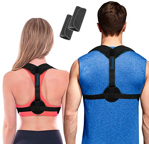 Posture Corrector for Women & Men + Underarm Pads - Upper Back...